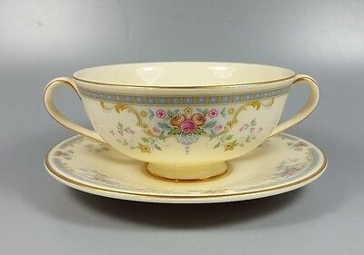 Royal Doulton Juliet H5077 Cream Soup Coupe / Cup And Saucer (Perfect)