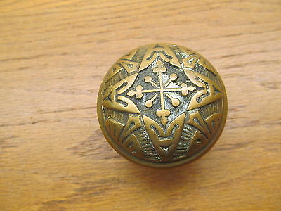 Old Eastlake ?? Brass ? Bronze ? Ornate Door Knob..nice Heavy Knob
