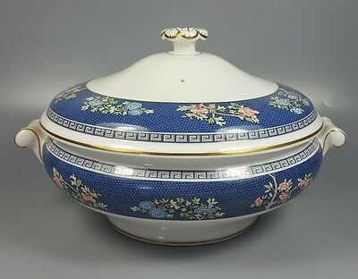 Wedgwood Blue Siam Covered Vegetable Dish / Tureen (Perfect)
