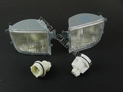 Vw Passat B4 1994 - 1996 Front Pair Bumper Indicator Light Lens Set Left + Right