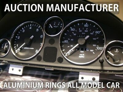 Mazda Miata Eunos 1989-1997 Aluminium Polished Chrome Dial Gauge Rings Set Of 5
