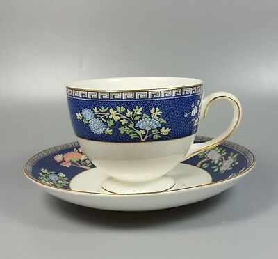 Wedgwood Blue Siam Tea Cup And Saucer (Leigh Shape) (Perfect)