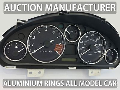 Mazda Miata NB 98-05 Chrome Cluster gauge Dashboard rings speedo Trim instrument