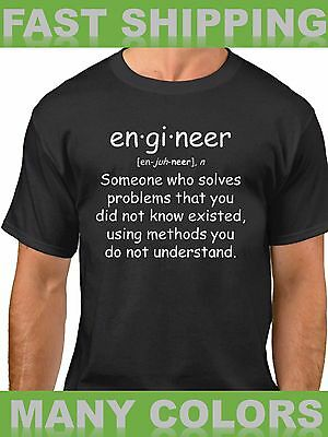 Engineer T Shirt Quote Tee Funny Gift Engineering Student T-Shirt Definition