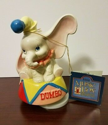 """Schmid DUMBO Music Box Plays """"My Favorite Things"""" Song Hand Painted"""