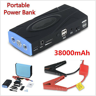Multifunction Auto Car Jump Starter Portable Power Bank 38000mAh Battery Charger
