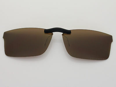 Custom Fit Polarized CLIP-ON Sunglasses For RB8415 55X17 Brown