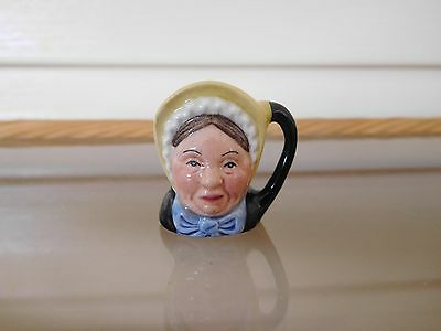 """Royal Doulton """"Betsy Trotwood"""" Miniature Toby Jug D6685 Made In England"""