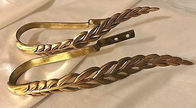 Rare H.L. Judd Brass Vintage Curtain Tie Backs Set of 2 Antique Victorian