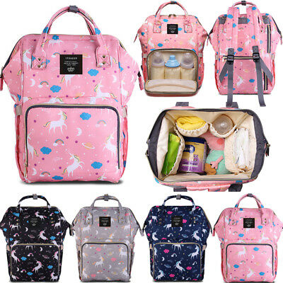 AU GENUINE LAND Multifunctional Baby Diaper Backpack Changing Bag Mummy Nappy
