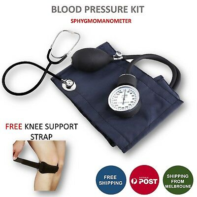 Aneroid Sphygmomanometer Arm Blood pressure Cuff Dial Monitor Stethoscope AU