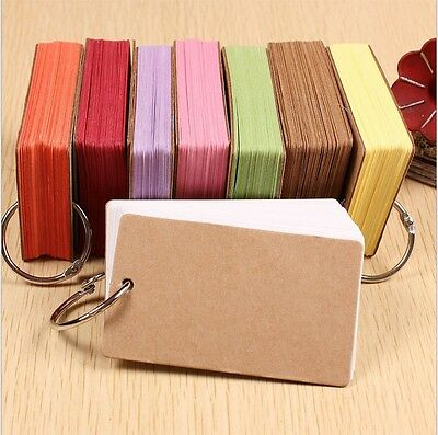 50PCS DIY Blank Greeting Mini multicolor Paper Card Gift Craft Message
