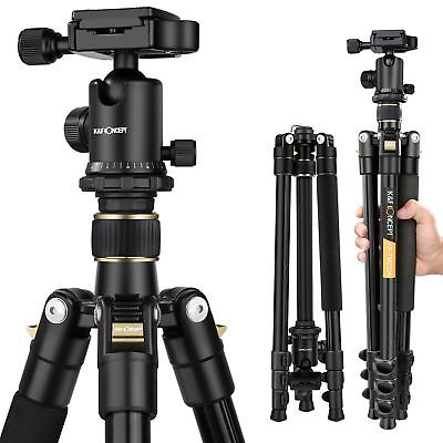 K&F Concept Professional Aluminum Tripod Monopod&Ball Head for DSLR SLR Camera