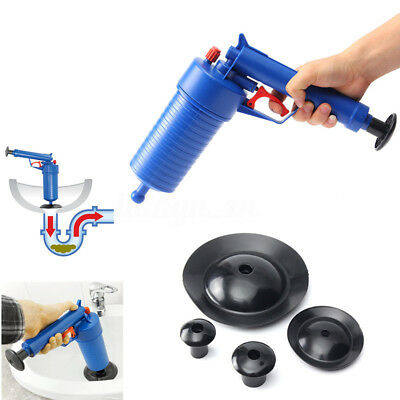 High Pressure Air Drain Blaster Pump Plunger Sink Pipe Clog Remover Cleaner Tool
