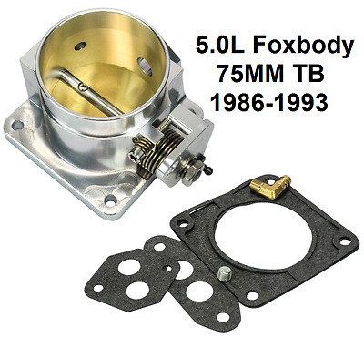 Throttle Body 75MM Racing Series For Ford Mustang 5.0L Foxbody 1986-1993