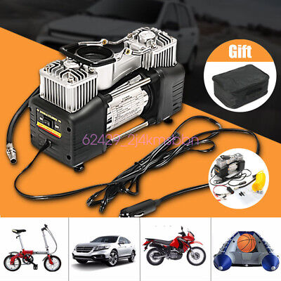 12V 150PSI Double Twin Cylinder Air Pump Compressor Car Tyre Inflator Portable