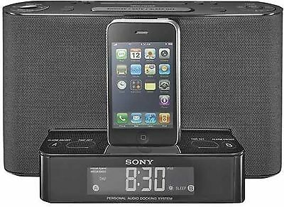 sony xdr ds12ip audio docking system dab radio alarm ipod iphone black b35 picclick uk. Black Bedroom Furniture Sets. Home Design Ideas