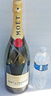 """MOET & CHANDON Imperial Champagne bottle 15.5""""T MAGNUM EMPTY Dummy Display 150cl"""