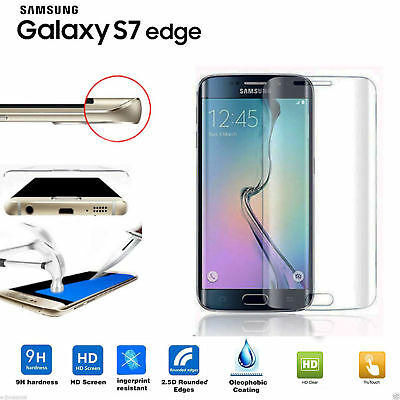 100%  Tempered Glass LCD Screen Protector Film For Samsung Galaxy S7 Edge