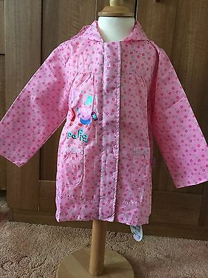 Mothercare Peppa Pig Light Weight Pink Coat BNWT