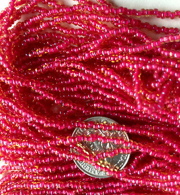 Vtg 1 HANK 3 CUT CLASSIC GRAY OPAQUE GLASS SEED BEADS 12//0 #062215h