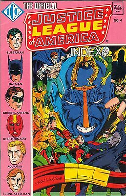 The Official Justice League of America Index No.4 May 86 Price Inc deliver in UK