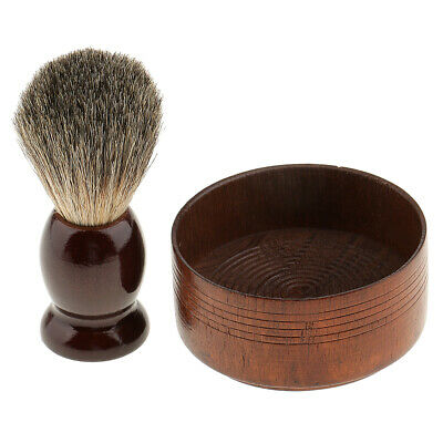 Men Shaving Brush Bowl Set Shave Razor Holder Stand Wood / Metal / Plastic/Resin