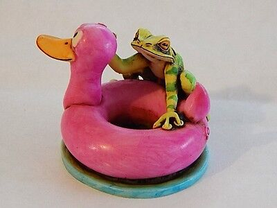 Fragile World Harmony Kingdom Artst Eyre Designs Neil Eyre rubber duck frog LE50