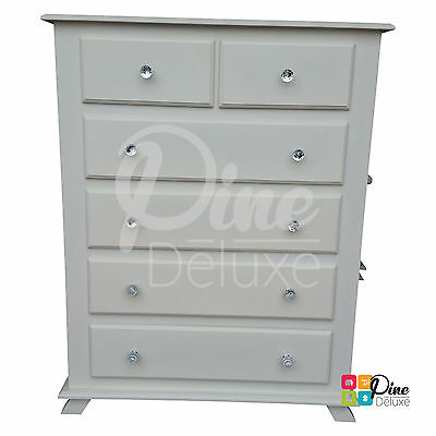 Hand Made Crown 2+4 Drawer Chest White(Assembled)