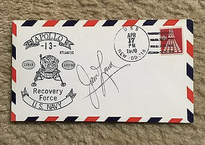 Jim Lovell SIGNED Postal Cover - Apollo 13 Recovery
