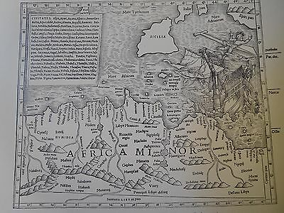 1540 Antique Map Of Africa Minor - Munster's Edition Of Ptolemy - Reproduction
