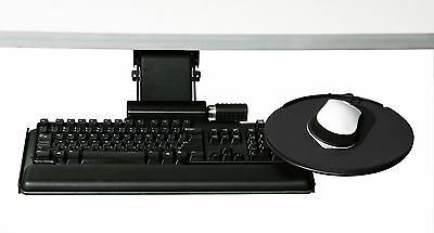 """Humanscale Keyboard Tray Desk System 6G - 8.5"""" Mouse, 7"""" Height Adjst, 14"""" Track"""