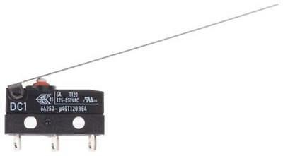 2 x ZF DC1C-A1LD SPDT-NO/NC Long Hinge Lever Microswitch, 6A @ 250V AC Alarm DIY