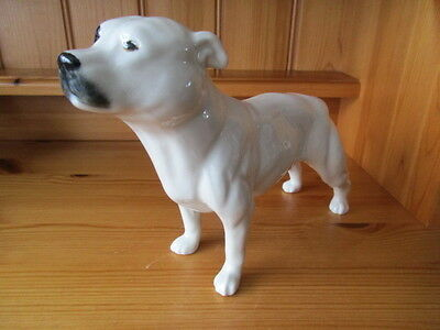 Elite Pottery Staffordshire Bull Terrier Dog Figure Rare Colorway
