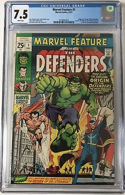 Marvel Feature #1 CGC 7.5 Origin & 1st appearance of Defenders.KEY ISSUE!L@@K!