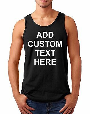 Men's Tank Top Custom Personalized T Shirts Your Own Text Business Name T-Shirt