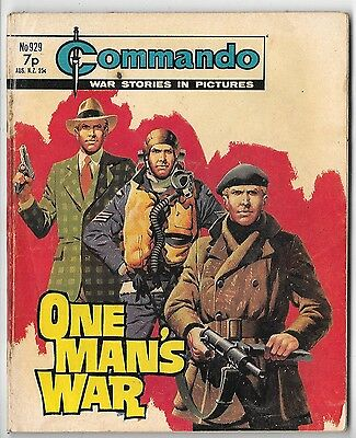 "Commando 929 (1975) very high grade copy ""One Man's War"""