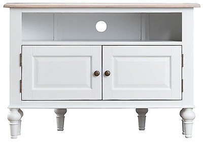 purchase cheap e21df 07575 WHITE SHABBY CHIC Corner TV Unit - Painted TV Cabinet - Media Stand - C22