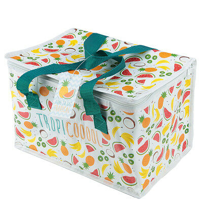 Tropical Design Lunch Box Picnic Insulated Thermal Woven Cool Bag Gift COOLB25