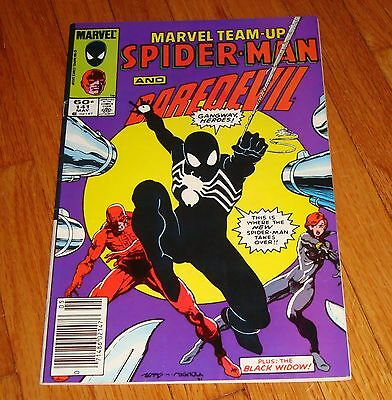 Marvel Team-Up #141 Spider-Man & Daredevil Newsstand Variant 1st Black Costume
