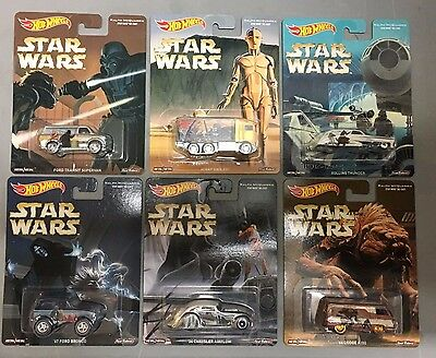 Star Wars * 6 Car Set * Hot Wheels Pop Culture Hauler, Bronco, A100 * F16