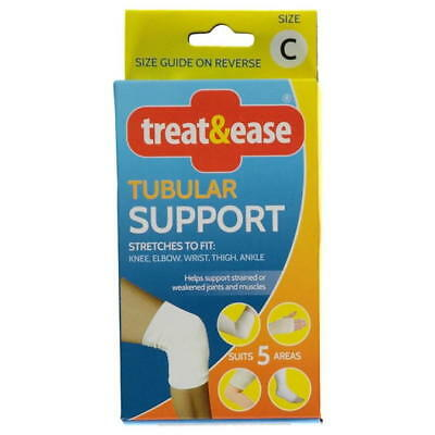 Treat & Ease Tubular Support Bandage supports strained weakened joints & muscles