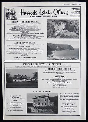 Dell Cottage Virginia Water Martinhoe Manor Devon Pen Yr Wrlodd Lyvers Ocle 1973