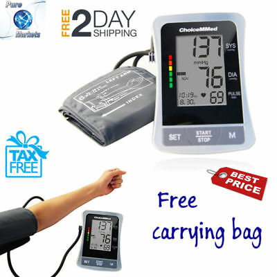 Blood Pressure Monitor Digital Arm Type Push Button Automatic Measure Home Rate