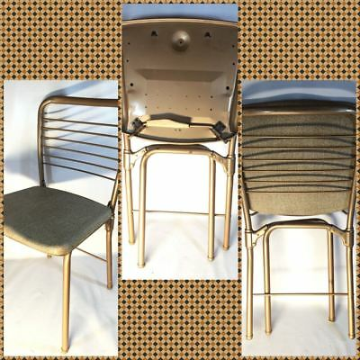 Hamilton Cosco Vintage Metal Folding Chair Mid Century Modern Model 60 Made USA