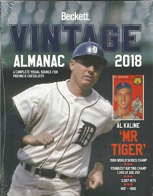 2018 Beckett Vintage Multi Sport Almanac Card Price Guide 4th Edition $39.95 SRP