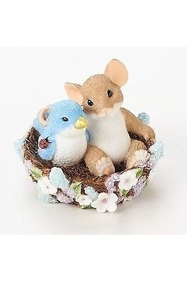"Charming Tails 2.5"" Mouse Figure May Your Home Bloom With Friends #19387 NIB"