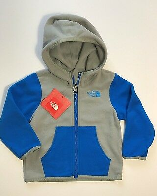 NWT THE NORTH FACE Infant Glacier Full Zip Fleece Hoodie Jacket 3-6 6-12 12-18 M