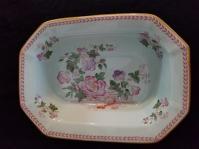 Early century vintage English china vegetable bowl, marked Adams - Calyx Ware -