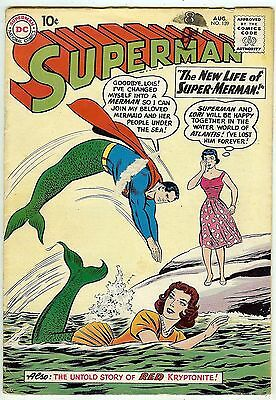 Superman #139 (1960, fn- 5.5) price guide value in this grade: $86.00 (£57.00)